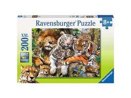 Ravensburger Puzzle Schmusende Raubkatzen 200 XXL Teile