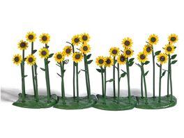 BUSCH 1240 H0 24 Sonnenblumen fertig montiert