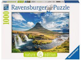 Ravensburger Puzzle Wasserfall vor Kirkjufell Island 1000 Teile