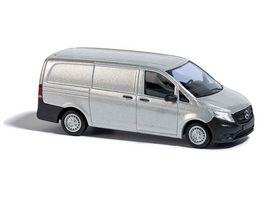Busch 51100 Automodell Mercedes Vito Kastenwagen CMD Silber