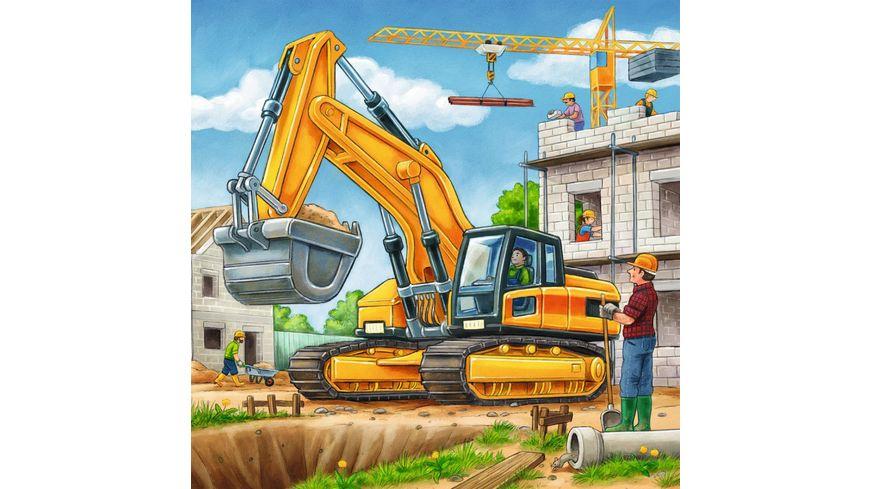 Ravensburger Puzzle Grosse Baufahrzeuge 3 x 49 Teile