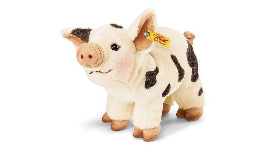 Steiff Kuscheltiere Haus Hoftiere Roserl Minischwein weiss schwarz 26cm