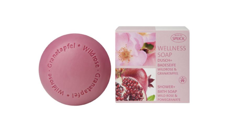 SPEICK Wellness Soaps  Dusch+Badeseife  Wildrose & Granatapfel