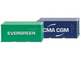 Wiking Zubehoerpackung 20 Container NG Evergreen CMA CGM