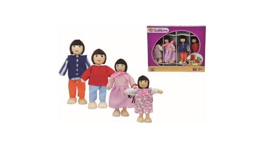 Eichhorn Puppenhaus Familie 4teilig