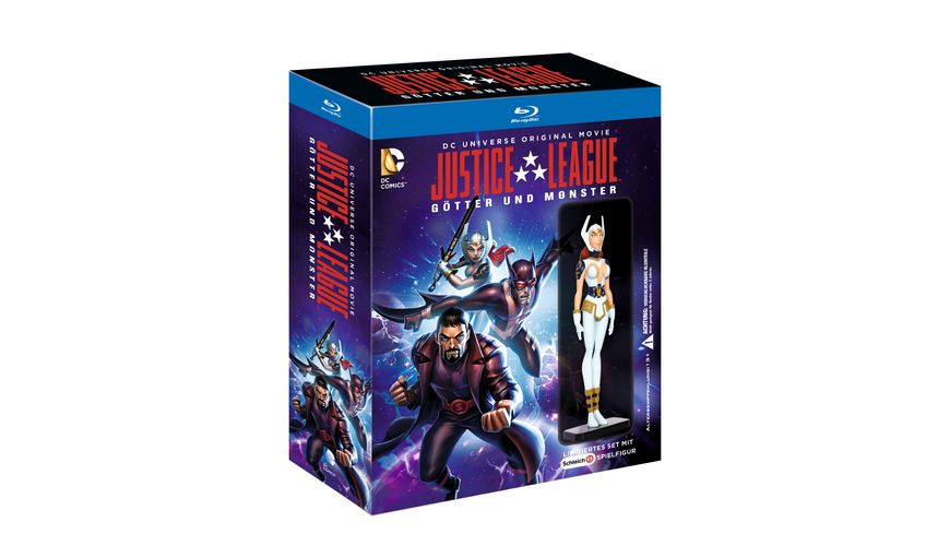 Justice League Goetter Monster Exklusiv bei Mueller inkl Wonder Woman Schleichfigur Blu ray Disc