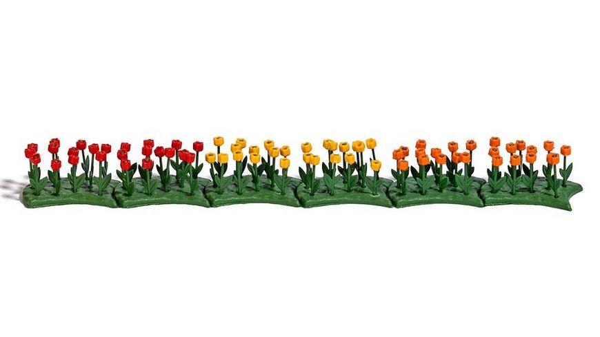 Busch 1242 Modellbahnzubehoer 70 Tulpen fertig montiert