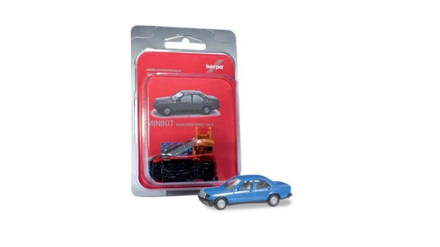 Herpa 012409 003 Herpa MiniKit Mercedes Benz 190 E verkehrsblau