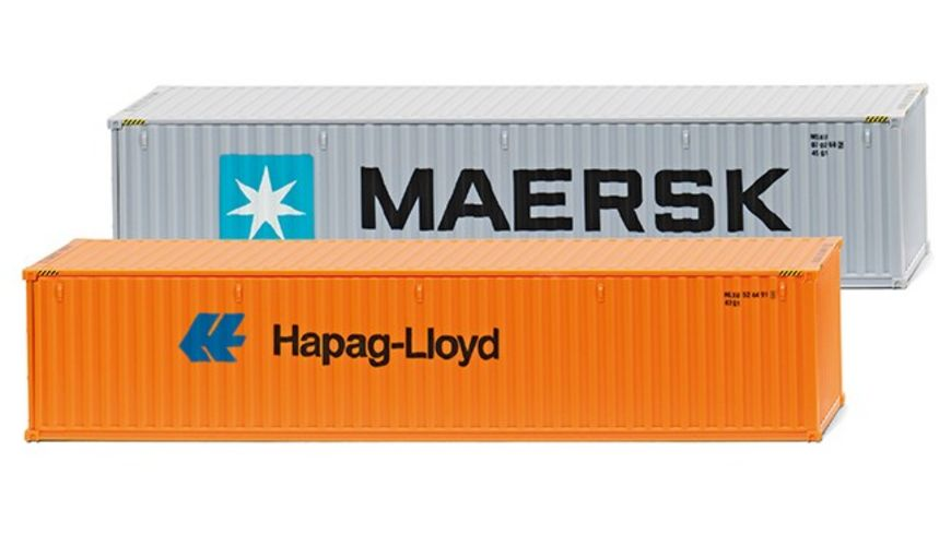 WIKING 001813 Zubehoerpackung 40 Container NG Maersk Hapag Lloyd