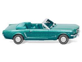 WIKING 020547 Ford Mustang Cabriolet tuerkisgruen metallic
