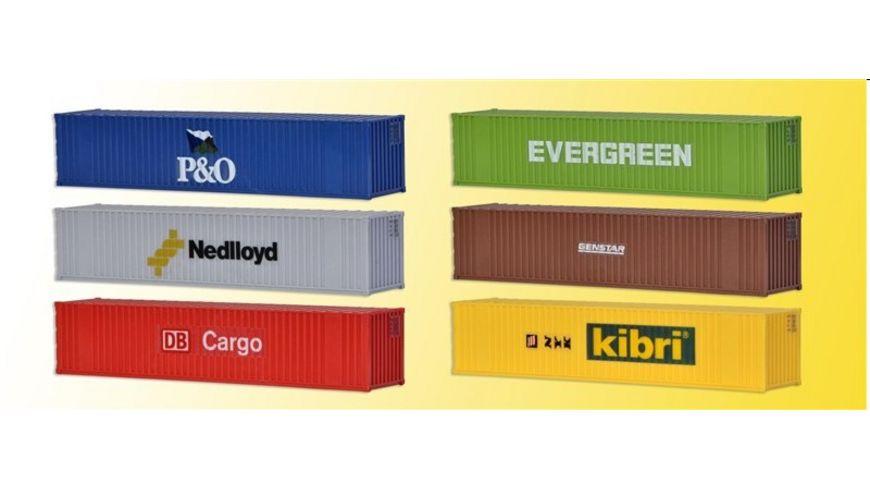 Kibri 10922 40 Fuss Container 6 Stueck