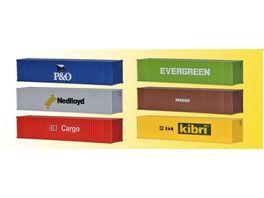 Kibri 40 Fuss Container 6 Stueck