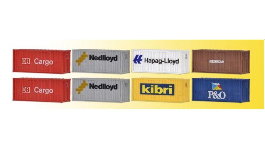 Kibri 10924 20 Fuss Container 8 Stueck