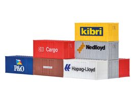kibri H0 20 Fuss Container 8 Stueck