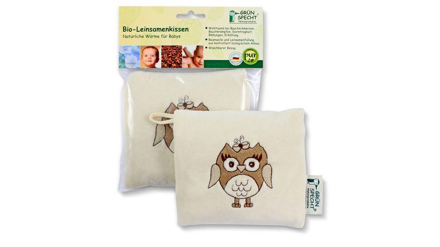 Gruenspecht Natur Pur Bio Leinsamenkissen fuer Babys