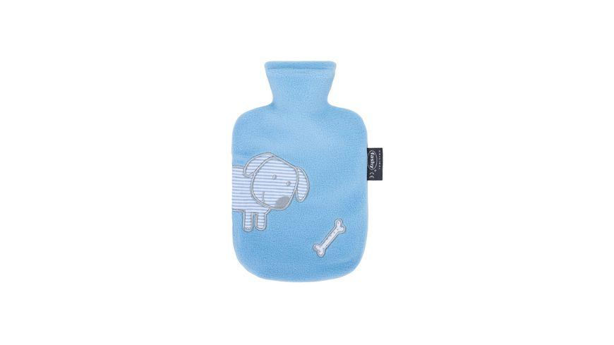 fashy Waermflasche 0 8 L mit Flauschbezug und Stickerei Applikation