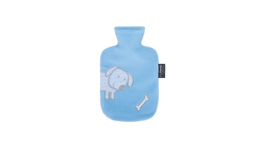 Fashy Kinder Waermflasche mit Flauschbezug und Applikation