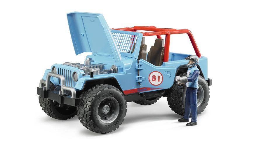 BRUDER Jeep Cross Country Racer blau mit Rennfahrer 02541