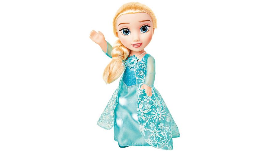 Jakks Pacific - Disney Frozen Puppe Snow Glow Elsa 35cm, Spielpuppe mit Licht und Musik