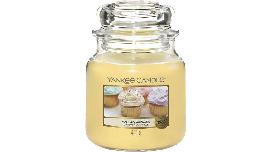 YANKEE CANDLE Mittlere Duftkerze im Glas - Vanilla Cupcake