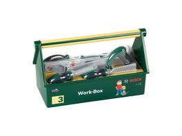 Theo Klein 8573 Werkzeug Box 7 teiliges Werkzeug Set Stabile Box mit praktischem Tragegriff Masse 30 25 cm x 14 cm x 17 25 cm Spielzeug fuer Kinder ab 3 Jahren
