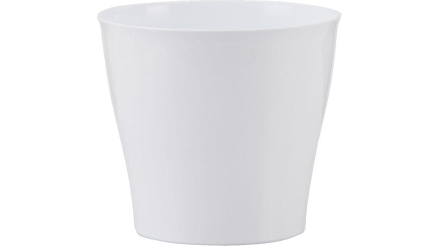 scheurich Kunststoffuebertopf 17 cm Bright White