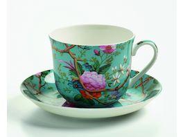 MAXWELL WILLIAMS Geschirr Kunst auf Porzellan Fruehstueckstasse mit Untertasse Victorian Garden
