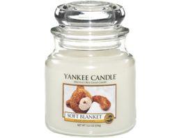 YANKEE CANDLE Mittelgrosse Kerze im Glas Soft Blanket