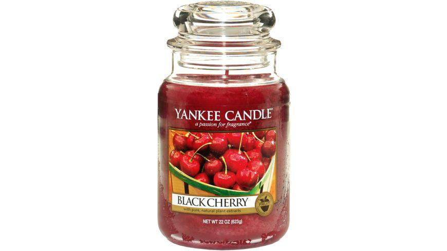 YANKEE CANDLE Große Duftkerze im Glas - Black Cherry