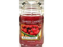 YANKEE CANDLE Grosse Kerze im Glas Black Cherry