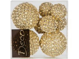 EUROSAND Deko Diamantbaelle 8 teilig gold