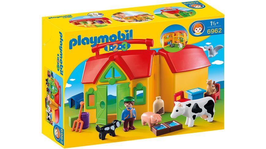 PLAYMOBIL 6962 - 1 2 3 Playmobil - Mein Mitnehm-Bauernhof