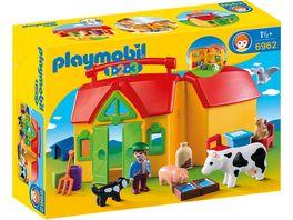 PLAYMOBIL 6962 1 2 3 Playmobil Mein Mitnehm Bauernhof