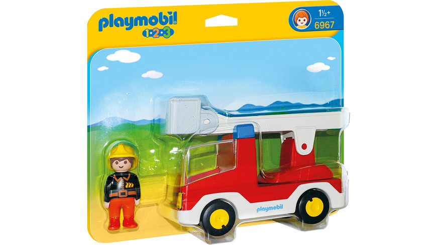 PLAYMOBIL 6967 - 1 2 3 Playmobil - Feuerwehrleiterfahrzeug