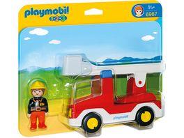 PLAYMOBIL 6967 1 2 3 Playmobil Feuerwehrleiterfahrzeug