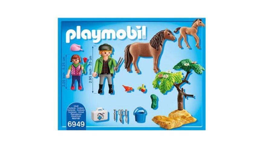 PLAYMOBIL 6949 Country Ponymama mit Fohlen