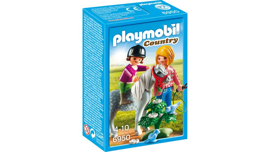 PLAYMOBIL 6950 Country Spaziergang mit Pony
