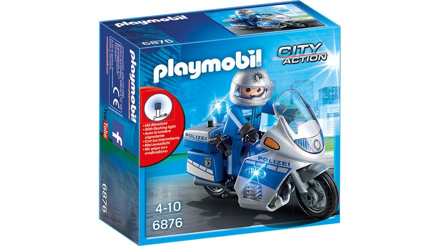 PLAYMOBIL 6876 City Action Motorradstreife mit LED Blinklicht