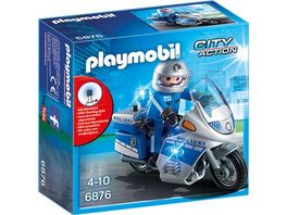 PLAYMOBIL 6876 City Action Motorradstreife mit LED Blinklicht