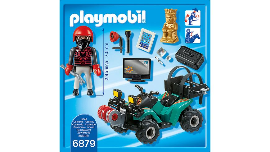 PLAYMOBIL 6879 City Action Ganoven Quad mit Seilwinde