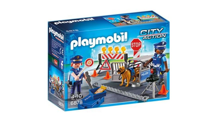 PLAYMOBIL 6878 City Action Polizei Strassensperre