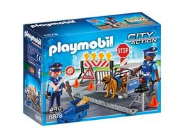 PLAYMOBIL 6878 City Action Polizei Strassensperre