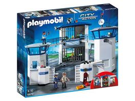 PLAYMOBIL 6872 City Action Polizei Kommandozentrale mit Gefaengnis