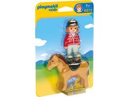 PLAYMOBIL 6973 1 2 3 Playmobil Reiterin mit Pferd