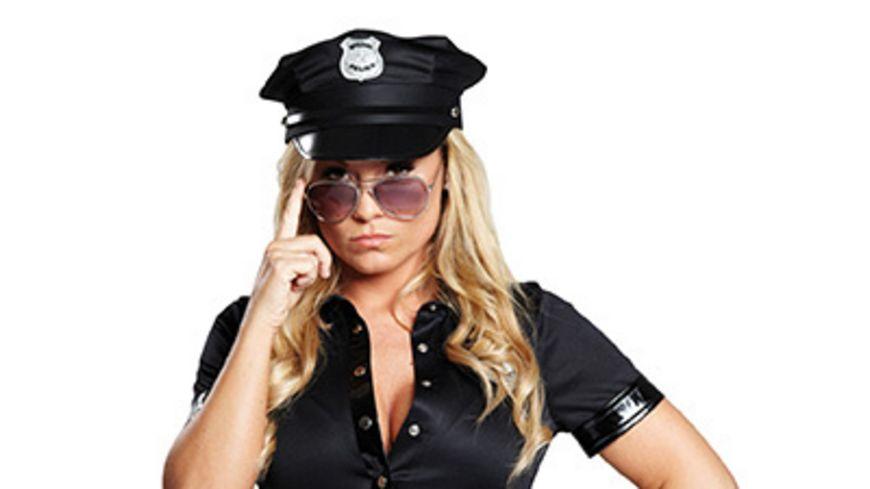 Rubies Police Cap schwarz