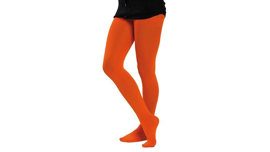 Rubies Neonstrumpfhose orange