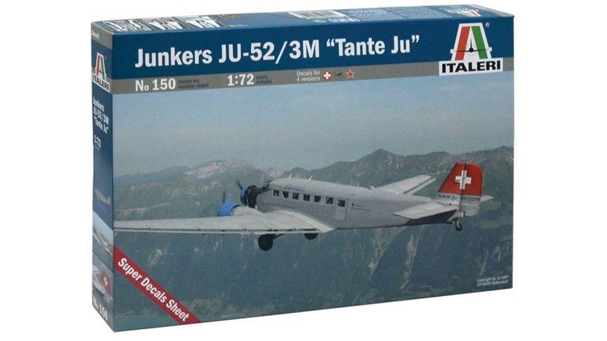 Italeri 0150 Flugzeuge 1 72 Junkers Ju 52 3 m tante Ju Lh