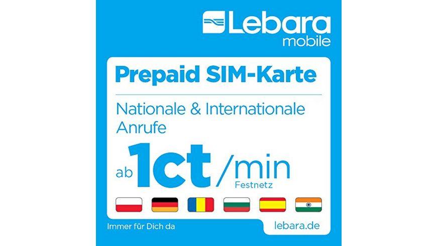 Internationale Sim Karte.Lebara Prepaid Sim Karte Mit 10 Startguthaben