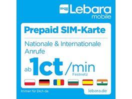Lebara Prepaid SIM Karte mit 10 Startguthaben
