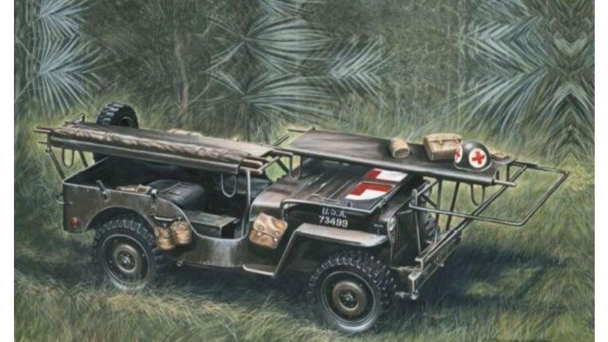 Italeri 1 35 1 4 Ton 4x4 Krankenwagen Jeep
